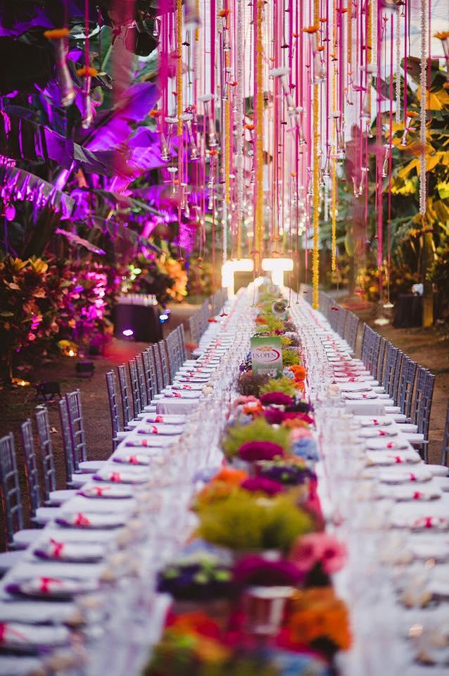 Mesas infinitas para bodas y eventos